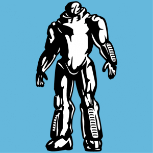 Print a robot t-shirt online. Customize the two-color robot and create an original geek t-shirt, or robot accessory.