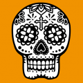 Mexico skull, calavera 2 colors. Print a t-shirt.