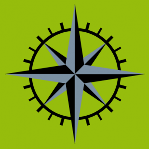Customized 8-point compass rose with graduations, create your own geek compass t-shirt online.