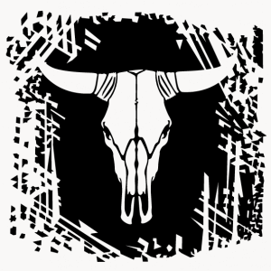 Cowskull T-shirt. Personalize a Texas and USA t-shirt with this decorative cow skull.