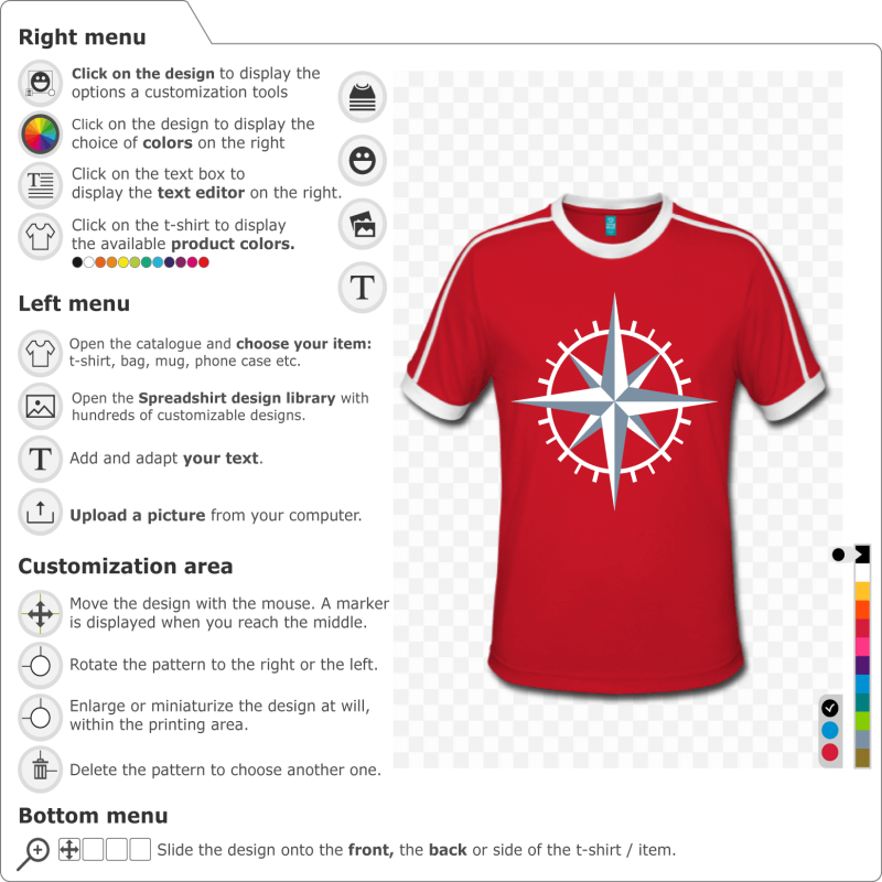 Customized compass t-shirt