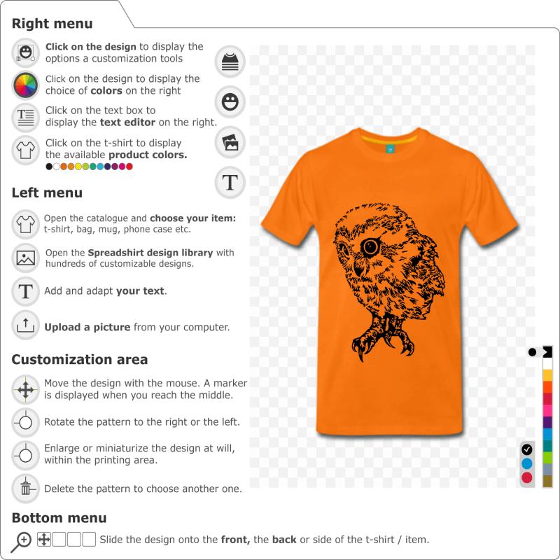 Print an owl t-shirt