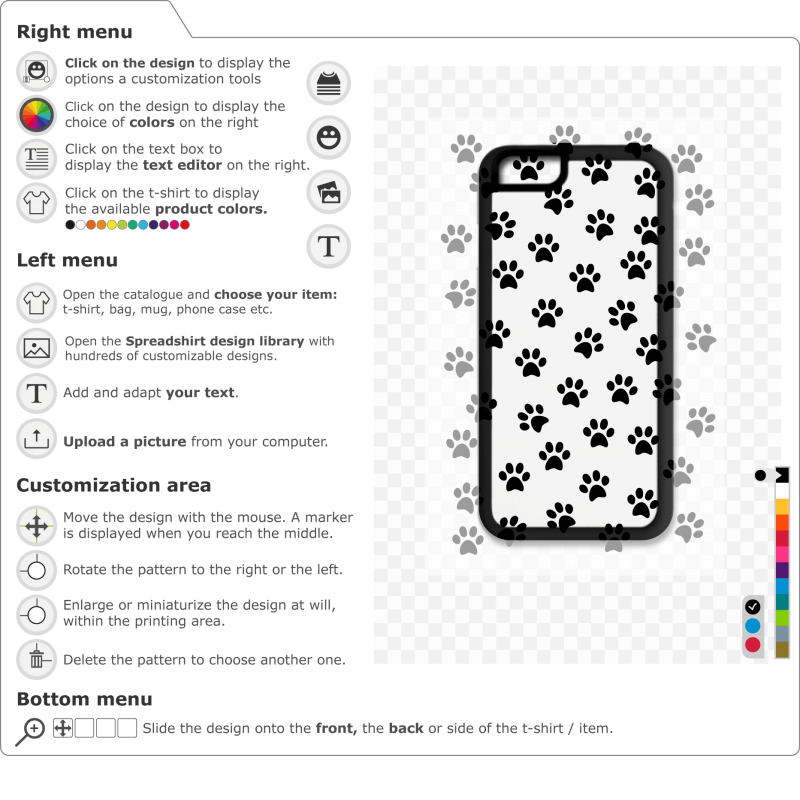 Cute paw prints to print on your phone case. Create an original phone protection.