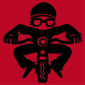 A funny little biker character to customize, create your own biker t-shirt online.