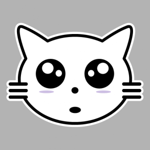 Create a kawaii kitten t-shirt with this stylish cat head.