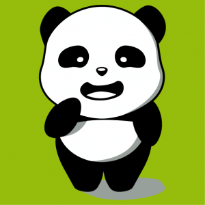 Panda t-shirt designed in kawaii style. 3-colour standing panda to be printed online.