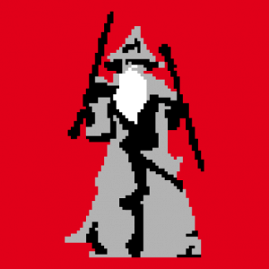 Customizable Lord of the Rings design in pixelart.