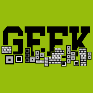 Retrogaming GEEK design for printing on t-shirts, bags and accessories.