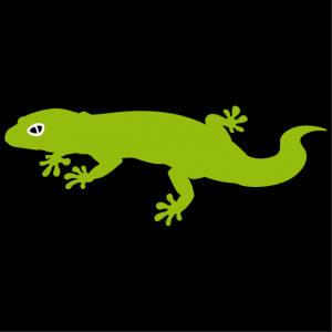 Funny striped Gecko. Reptile in 3 colors to customize online.