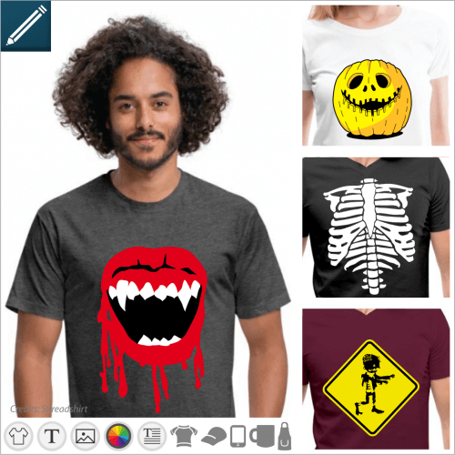 Horror and monsters t-shirt to print online, create your own personalized t-shirt.