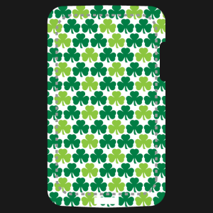 Decorate your phone case for St. Patrick's Day in the colors of Ireland with this Shamrocks design.