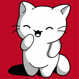 Funny cat in three colors. Create a kawaii t-shirt with this opaque 3-color kitten.