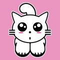 Kitty cat, stylized kawaii kitten with large kawaii eyes, small nose and oval cheekbones. Create your own personalized t-shirt online.