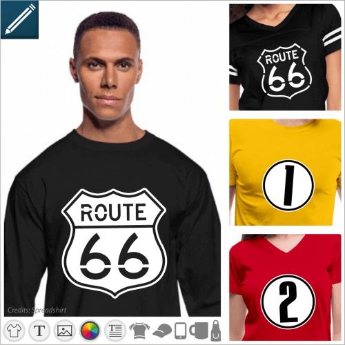 T-shirt numbers to customize, county  numbers, age, sport numbers.