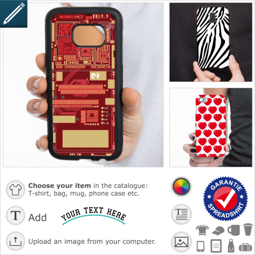 Personalized portable shell, decorative designs for phone case printing.