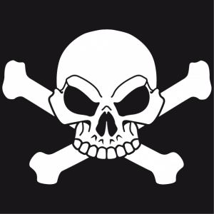 Customizable pirate t-shirt to make yourself online. Pirate flag with skull and crossbones.