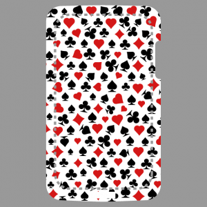Mobile phone case Design poker with customised playing card symbols.