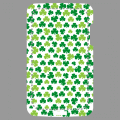 Light green and dark green Irish clovers, custom design for printing on iPhone case.