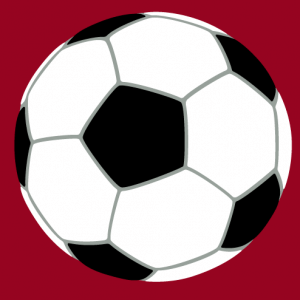 Soccer ball to personalize and print on t-shirt.