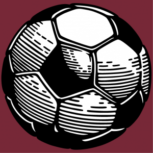 Print a sports jersey or a football t-shirt with this two-colour ball design.
