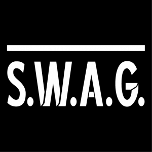 Custom swag t-shirt. Funny swag design copying the Swat design of actual swat teams patches.