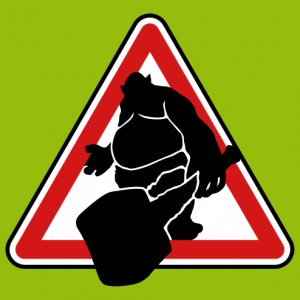T-shirt Road sign attention Troll to customize yourself.