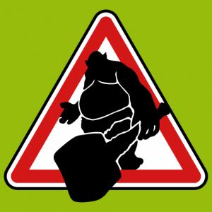 Troll sign, geek parody road sign.