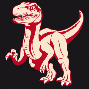 Personalize your unique and original velociraptor t-shirt with this 3-color dinosaur designed in full length.
