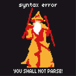 Syntax Error T-shirt customized online.