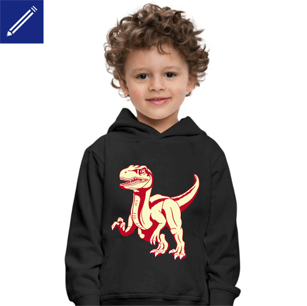 Dinosaur t-shirt for kids to personalize.
