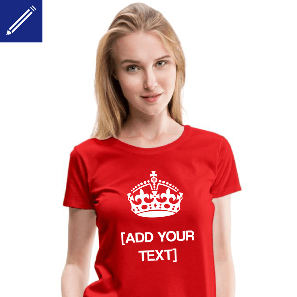 Keep Calm T-shirt and your personalized text.