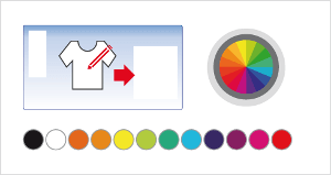 Customize the colors of the design to be printed.