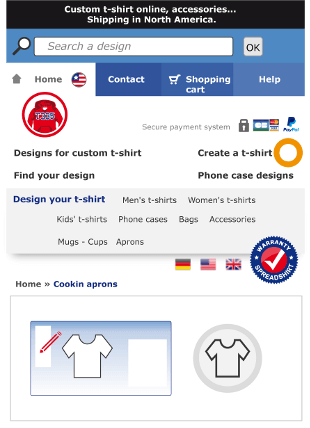 Select your design directly in the Spreadshirt designer.